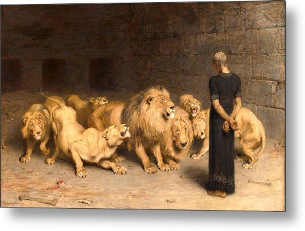 Daniel In The Lions Den Metal Print