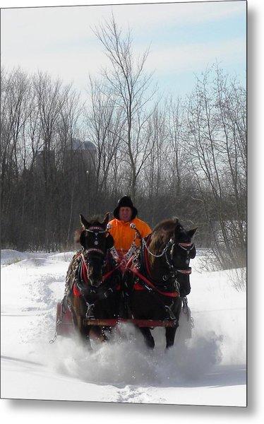 Dashing Through The Snow Metal Print