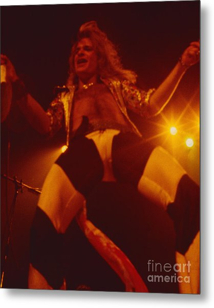 David Lee Roth - Van Halen At The Oakland Coliseum 12-2-1978 Rare Unreleased Metal Print