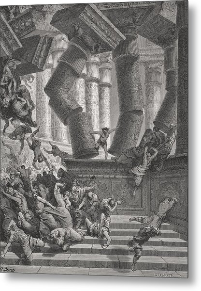 Death Of Samson Metal Print