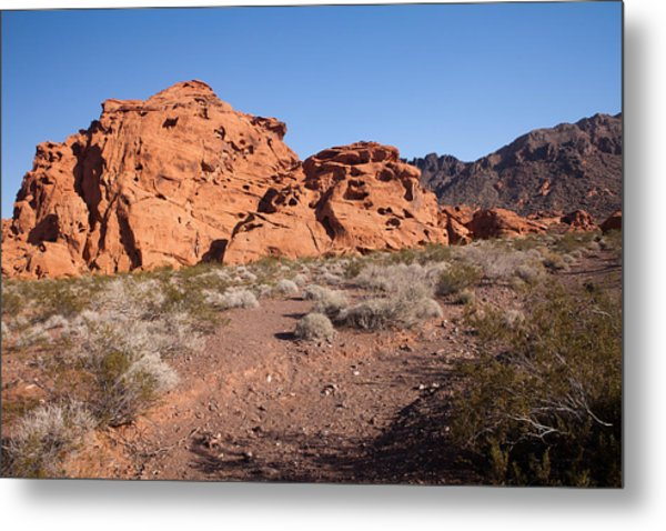 Desert Rock Formations Metal Print