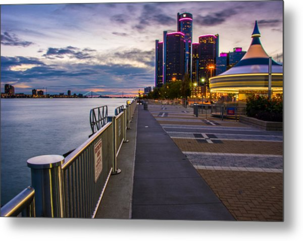 Detroit River Walk Metal Print