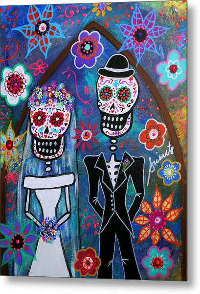 Dia De Los Muertos Wedding Metal Print