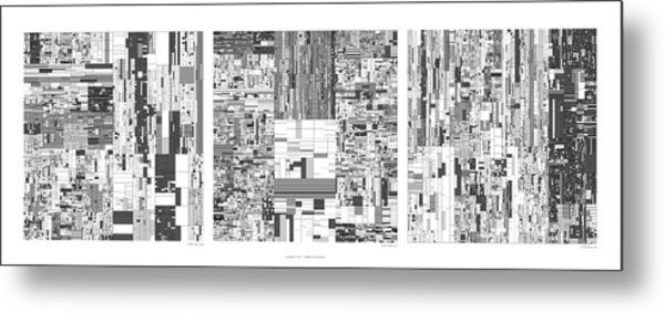 Digits Of Pi Phi And E In A 6 Level Treemap Metal Print by Martin Krzywinski