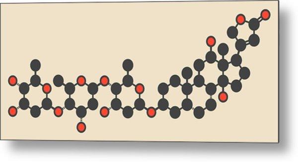 Digoxin Heart Failure Drug Molecule Metal Print by Molekuul