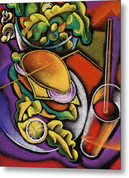 Food And Beverage Metal Print