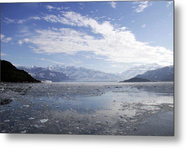 Distant Glacier Metal Print