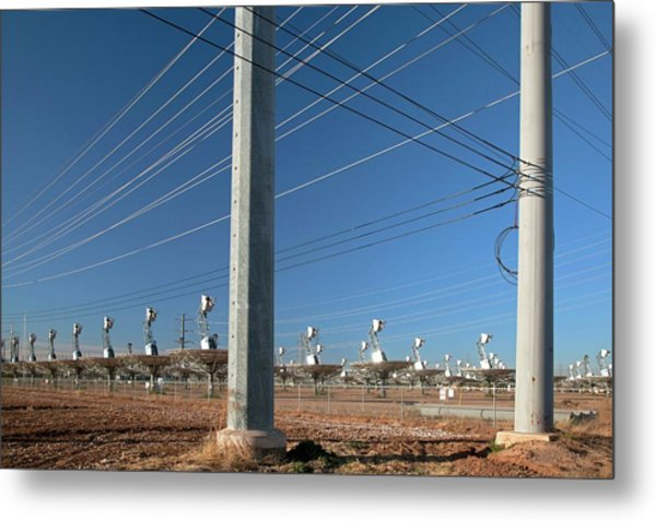 Disused Solar Power Plant Metal Print by Jim West