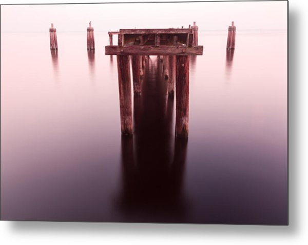 Dock At Twilight Metal Print