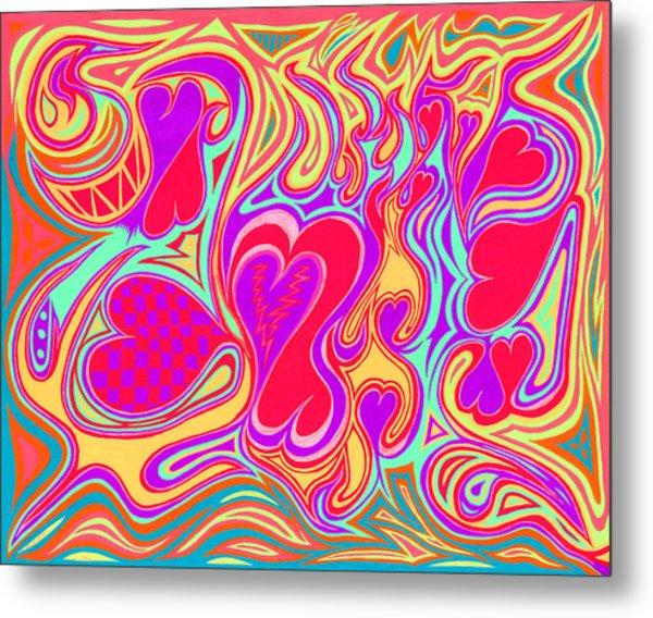 Double Broken Heart Metal Print