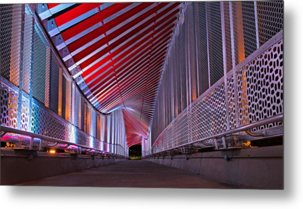 Double Helix Footbridge Metal Print