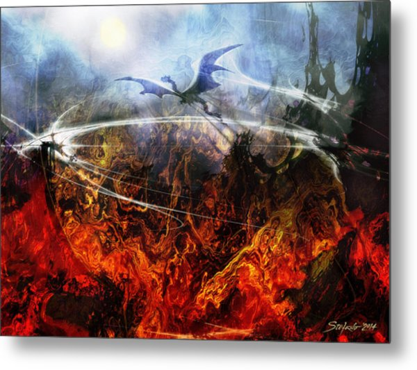 Dragon's Dawn Metal Print