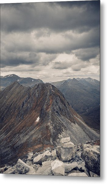 Dramatic Mountain Scenery In The Scottish Highlands Metal Print by Leander Nardin