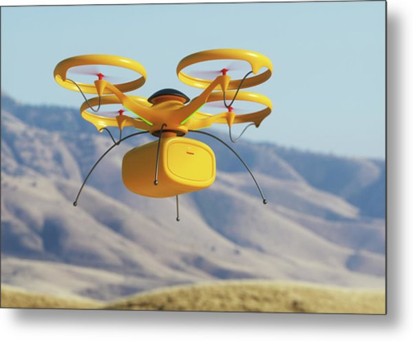 Drone In Transit Metal Print by Ktsdesign/science Photo Library