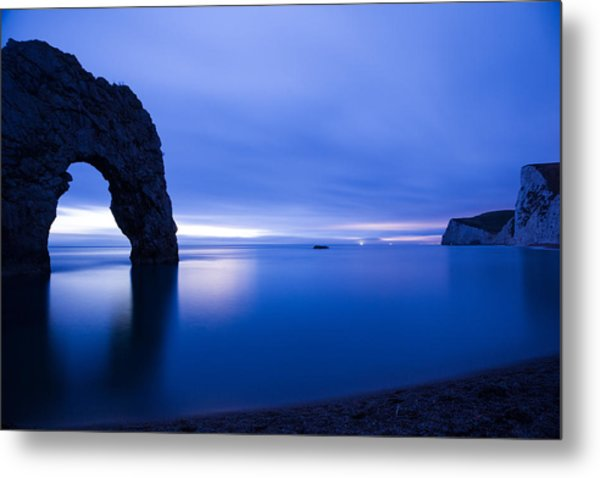 Durdle Door At Dusk Metal Print