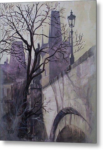 Dusk At The Charles Bridge Metal Print