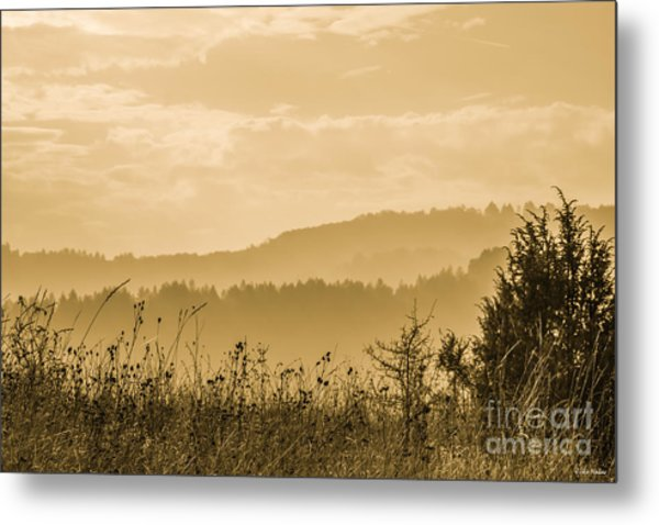 Early Morning Vitosha Mountain View Bulgaria Metal Print