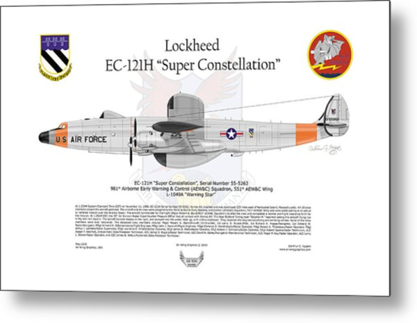 Ec-121h Super Constellation Metal Print by Arthur Eggers