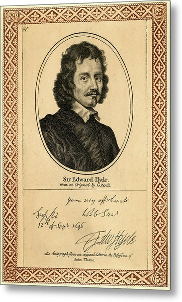 Edward Hyde, 1st Earl Of  Clarendon Metal Print by Mary Evans Picture Library