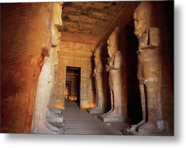 Egypt, Abu Simbel, The Greater Temple Metal Print