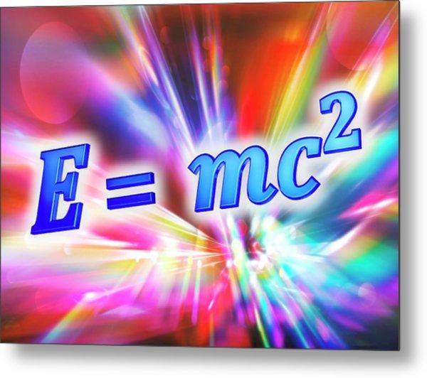 Einstein's Mass-energy Equation Metal Print by Alfred Pasieka