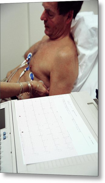 Electrocardiography Metal Print by Antonia Reeve/science Photo Library