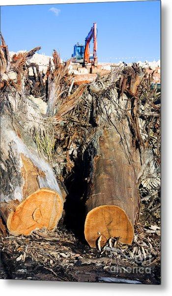 Environmental Destruction In Construction  Metal Print
