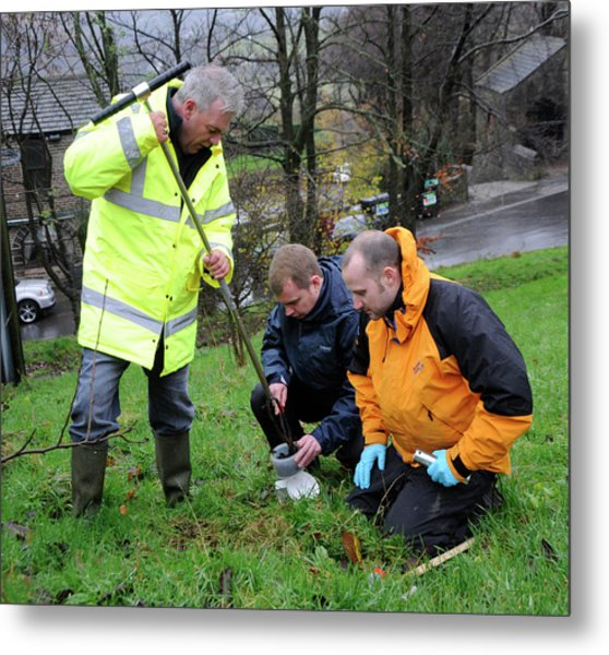 Environmental Soil Monitoring Metal Print by Public Health England