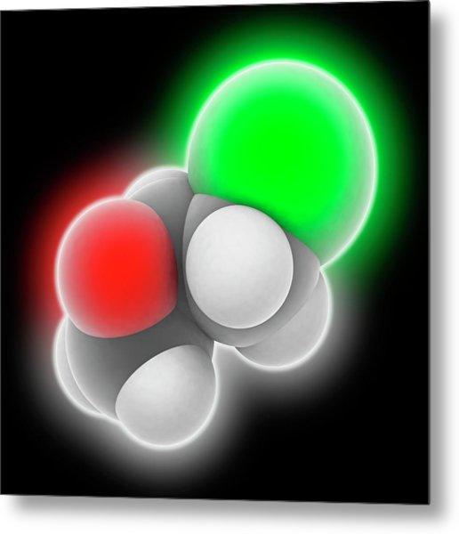 Epichlorhydrin Molecule Metal Print