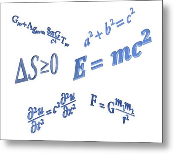 Equations Metal Print by Alfred Pasieka