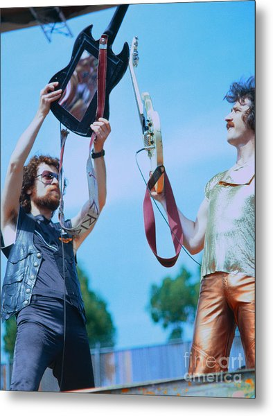 Eric Bloom And Buck Dharma Of Blue Oyster Cult At Day On The Green In Oakland Metal Print