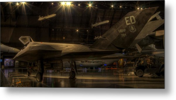 F-117 Stealth Fighter Metal Print