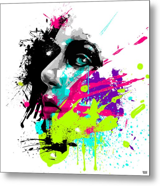Face Paint 2 Metal Print