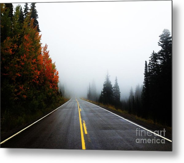 Metal Print featuring the photograph Fall Drive by Kate Avery