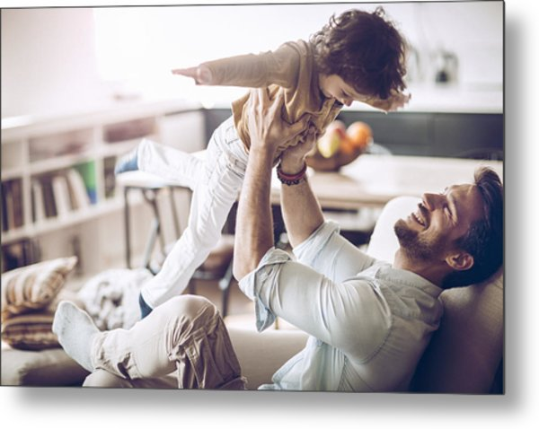 Father And Son Metal Print by Geber86