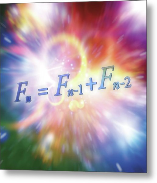 Fibonacci Sequence Equation Metal Print by Alfred Pasieka