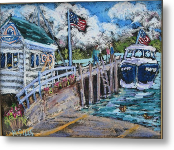 Fish Creek Boat Launch Metal Print by Madonna Siles