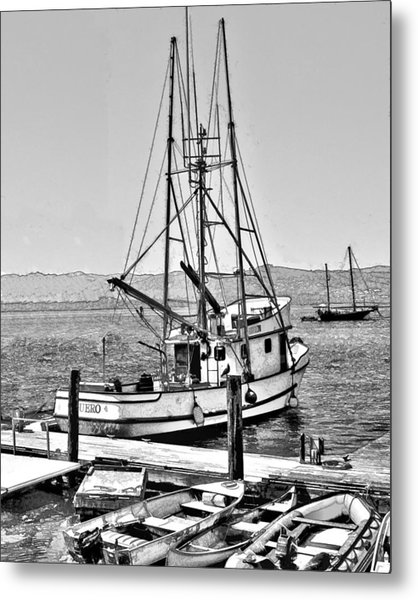 Fishing Boat Aquero Metal Print
