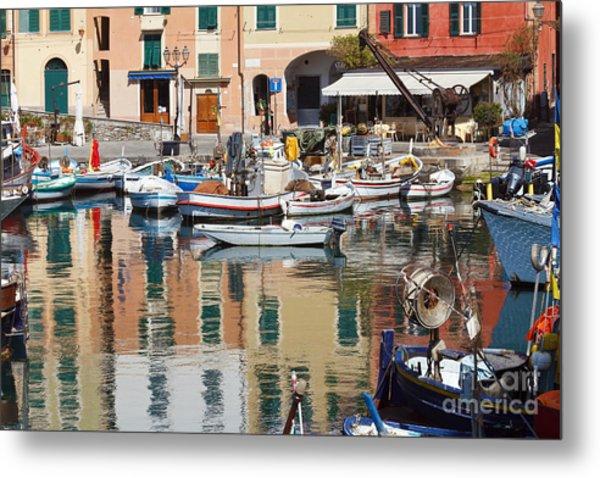 fishing boats in Camogli  Metal Print