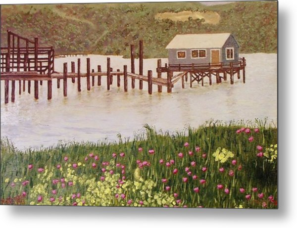 Fishing Shack Metal Print