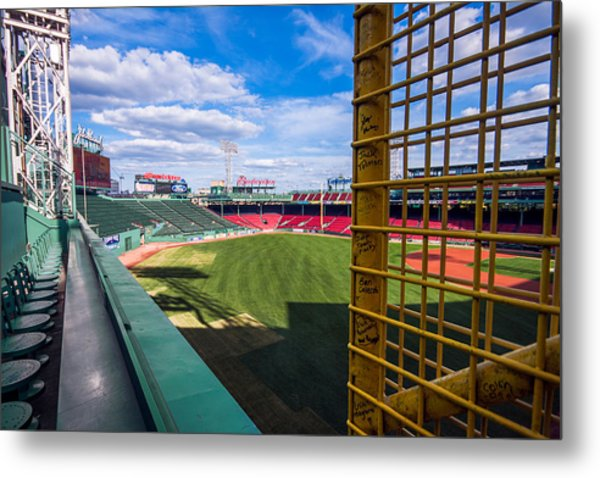 Fisk's Pole And The Green Monster Metal Print