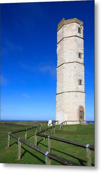 Flamborough Old Lighthouse Metal Print