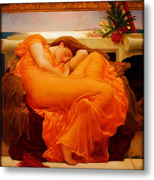 Flaming June Metal Print