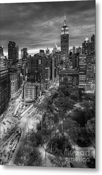 Flatiron District Birds Eye View Metal Print