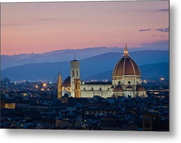 Florence At Sunset Metal Print