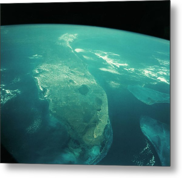 Florida From Space Metal Print by Nasa/science Photo Library