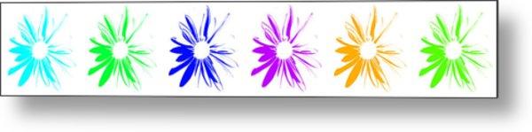 Flowers On White Metal Print