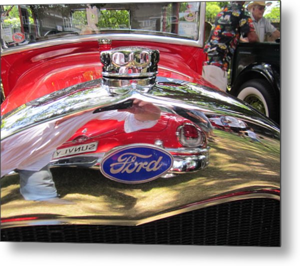 Ford Classic Car  Metal Print by Max Lines