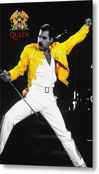Freddie Mercury Live In Wembley1986    Metal Print