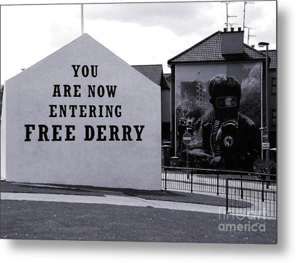 Free Derry Corner 7 Metal Print
